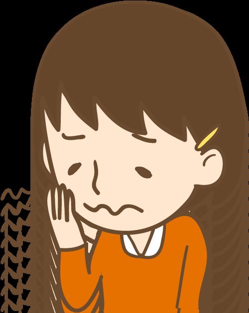 女の子 歯の激しい痛み イラスト