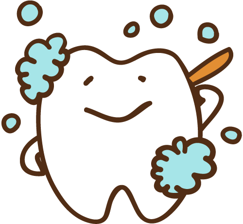 からだを洗う歯 イラスト
