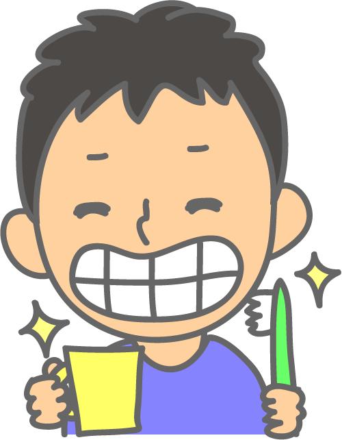 男の子 歯磨きできた! イラスト