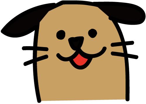 満足犬 イラスト