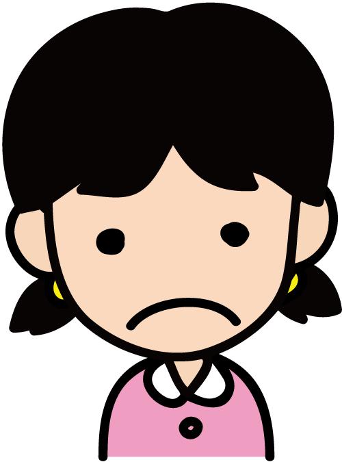 不満女の子 イラスト